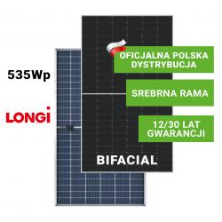 LONGI 535W Bifacial podwójne szkło (srebrna rama)