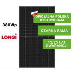 Panel Fotowoltaiczny LONGI 380W HalfCut (czarna rama)