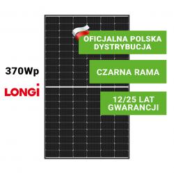 Panel Fotowoltaiczny LONGI 370W HalfCut (czarna rama)
