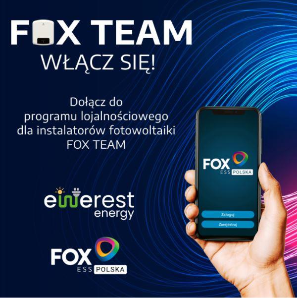 FOX TEAM - program lojalnościowy dla instalatorów
